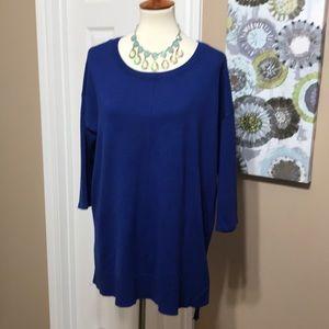 Soft Cynthia Rowley sz 1X tunic length sweater 💙